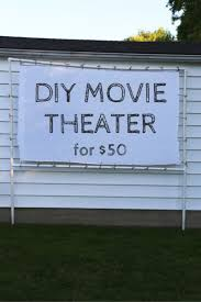 How To Make A Backyard Movie Theater Transform Your Backyard Into A Diy Outdoor Movie Theater