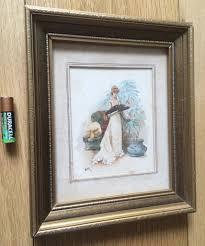 painting artwork on wood antique watercolour painting nouveau fan gilt wood
