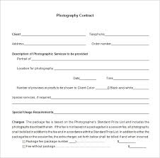 9 commercial photography contract templates u2013 free word pdf