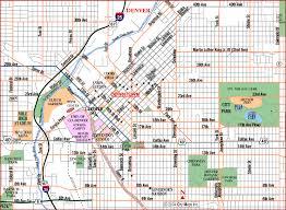 road map of denver denver colorado aaccessmaps