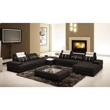 canape d angle noir et blanc canapé d angle cuir noir blanc design panoramique achat vente