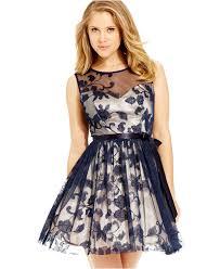 b darlin juniors u0027 embroidered illusion dress juniors dresses