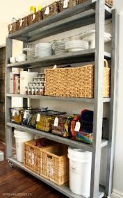 Kitchen Cabinet Rolling Shelves Kitchen Cart Rolling Kitchen Pantry Cabinet With Wood Rolling