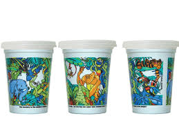 disposable cups 500 units jungle cup with disposable cup lid kidstar