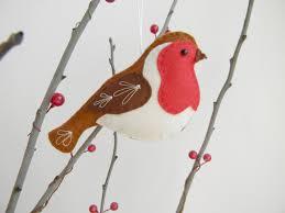 Cardinal Bird Home Decor by Felt Robin Ornament Felt Christmas Ornament Robin Bird