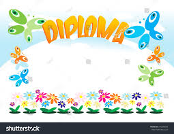 diploma frame kids girls boys women stock vector 275489087