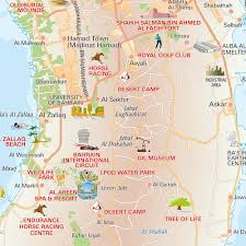 map of bahrain central bahrain tourist map mappery