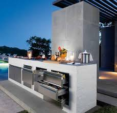 Outdoor Kitchen Stainless Steel Cabinets Cabinets Coziest Space For Outdoor Kitchen Designs Ideas By The