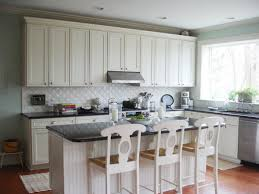 Kitchen Casual Cabinets Model Beside Tiles Backsplash Modern White Tile Backsplash Kitchen For