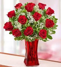 Arranging Roses In Vase Blooming Love Premium Red Roses In Red Vase