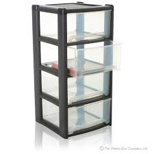Drawer Storage Units Buy Large Plastic 4 Drawer Tower Unit Discount Pallet Deal Of 14