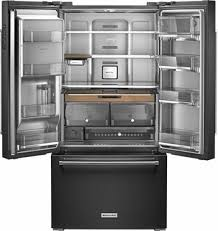 kitchenaid cabinet depth refrigerator kitchenaid 23 8 cu ft french door counter depth refrigerator