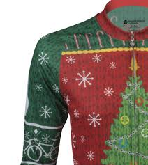 christmas sweater cycling jersey holiday celebration for bicycle