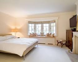 Bedroom Bay Window Furniture Photo Of Neutral Beige White Wood Bedroom With Bay Window