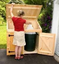 Backyard Garbage Cans by 90 Best Garbage Trash Can And Recycling Sheds Images On Pinterest