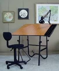 Rolling Drafting Table Mayline Ranger Steel Four Post Drafting Table W Center And Tool
