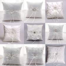ring pillow luxury wedding decoration lace rustic flower ring pillow cushion