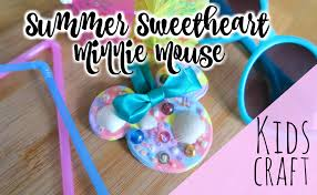 minnie mouse kids craft colab with red ted art disney