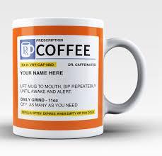 personalized prescription coffee mug cup custom name