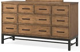 Klaussner International Klaussner International Affinity 10 Drawer Dresser With Bar Pulls