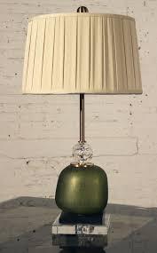 Black And Crystal Table Lamps John Richard Buffet Table Lamp Green Glass U0026 Crystal W Black