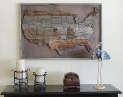 wood usa map etsy