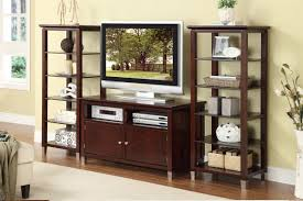 contemporary tv stand with storage and optional media shelves