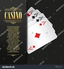 Playing Card Design Template Casino Background Vector Poker Illustration Gambling Stock Vector