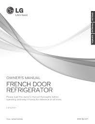 download free pdf for lg studio lsfs213st refrigerator manual