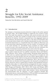struggle for life social assistance benefits 1992 u20132009 springer