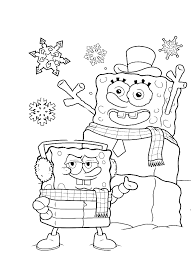 spongebob christmas always stay cool coloring page christmas