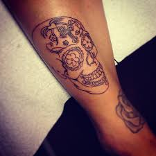 flowers on thigh flowers and sugar skull tattoo designs all tattoos for men
