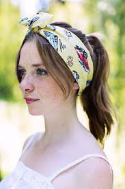 1950s hair accessories 1950s american car print wire headband retro pin up rockabilly