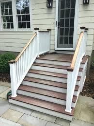 Corner Deck Stairs Design Exterior Stairs Enclosed Exterior Stairs Exterior Modern With