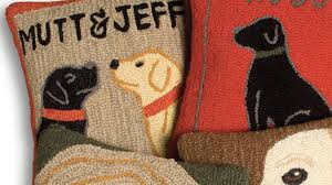 personalized hooked wool pillow collection your family name pet