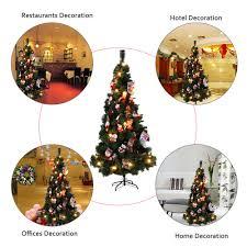 online shop festnight 210cm pvc christmas tree with pinecone auto