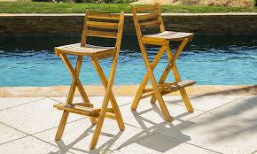 Atlantic Outdoor Furniture by 63 Off On Folding Bar Stools 2 Pack Groupon Goods