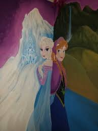 elsa and anna frozen wall mural kid u0027s murals pinterest anna
