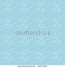 wallpaper seamless pattern ornamental blue white stock vector