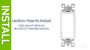 leviton presents how to install a three and 3 way switch wiring