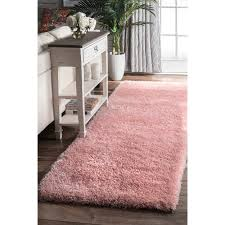 Pink Runner Rug Nuloom Soft And Plush Cloudy Solid Shag Baby Pink Runner Rug 2 8