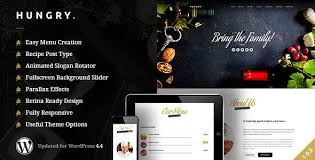 themes wordpress restaurant free hungry a wordpress one page restaurant theme 24x7themes best