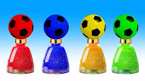 learn colors soccer ball nail art design colours for children