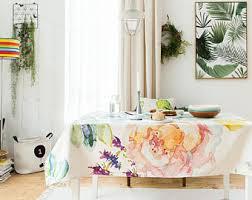 thanksgiving tablecloth etsy