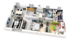 maison 4 chambres plan 3d maison 4 chambres plain pied