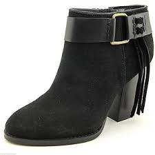 womens size 9 shoe boots kensie womens massey black fringed suede ankle shoes boots size 9