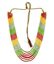 coloured crystal necklace images 58 off on bling n beads multicolor designer 7 line crystal jpg