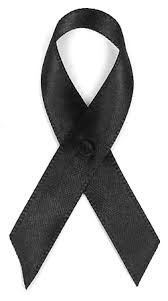 black satin ribbon black satin awareness ribbon pin