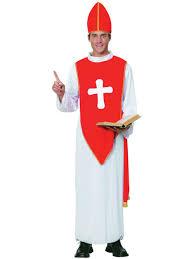 priest halloween costume mens holy er than thou priest vicar robe fancy dress