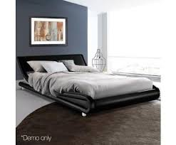 modern era pu leather bed frame available in king queen u2013 evopia